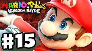 Mario + Rabbids Kingdom Battle - Gameplay Walkthrough Part 15 - World 4: Lava Pit!