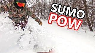 SUMO POW SNOWBOARDING IN JAPAN