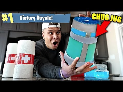 RARE FORTNITE ITEMS IN REAL LIFE CHALLENGE! (Fortnite Items in Real Life DIY)