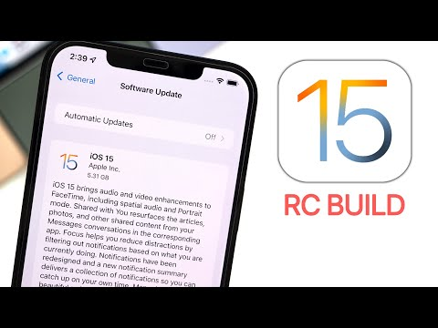 iOS 15 RC Released - What's New?