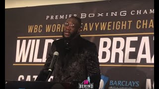 DEONTAY WILDER RAW AND HONEST ABOUT DOMINIC BREAZEALE BEEF   POST FIGHT