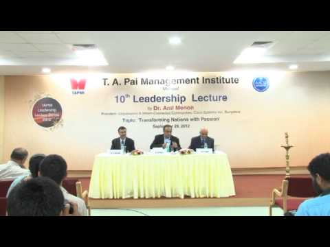 10th Leadership Lecture by Dr Anil Menon Part# 4/4