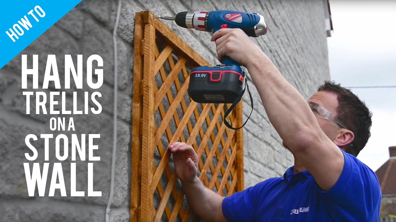 How To Fix A Trellis On A Stone Or Brick Wall Youtube