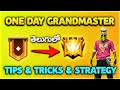 Grand master rank push pro best tips and tricks and strategies in free fire in Telugu