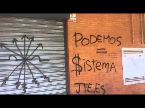 """Aparecen pintadas contra Pablo Iglesias (Podemos) en la sede de TeleK acusándole de """"proetarra"""" y """"antiespañol"""""""