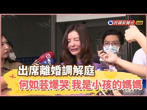 出席離婚調解庭 何如芸爆哭「我是小孩的媽媽」-民視新聞