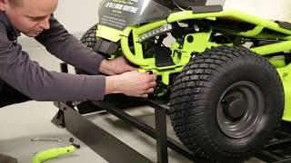 "Video: 38"" Electric Riding Mower 75 AH"