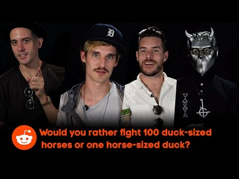 "Artists at Lollapalooza: ""100 Duck-Sized Horses or 1 Horse-Sized Duck?"""