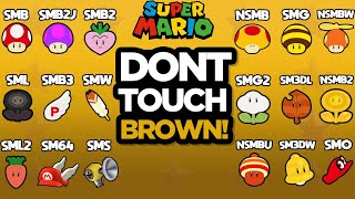 EVERY MARIO GAME: Don't Touch the Color Brown Challenge!
