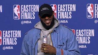 LeBron James Postgame Interview - Game 7   Cavaliers vs Celtics   2018 NBA East Finals