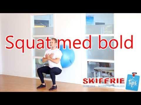 Skitræning - Øvelser til skiferie # 1 af 7 - Bold squat - Skiferietips.dk