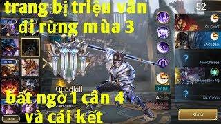 Liên Quân Mobile _ Triệu Vân Đi Rừng Mùa 3 Gánh Team Kinh Hồn: 1 Cân 4 Và Cái Kết