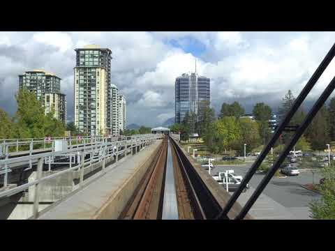 Vancouver SKYTRAIN: EXPO LINE WESTBOUND from King George to Scott Road Station - 4K