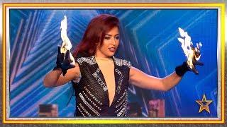 Su FUGAZ cambio de ropa y su FUEGO ilusiona al jurado | Audiciones 6 | Got Talent España 2019