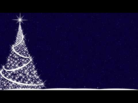 1 Hour HD Merry Christmas Tree Snow Falling Motion Background