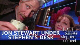 Jon Stewart: Live From Below Stephen's Desk