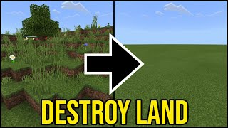 Minecraft How To Clear/Destroy Land PS4/Xbox/PE