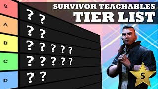 Ranking SURVIVORS by Best Teachable Perks | Dead by Daylight