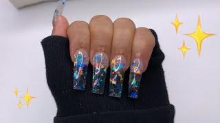 Doing My Own Acrylic Nails! | NAIL TUTORIAL