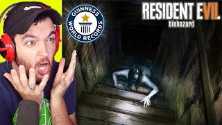 "WORLD RECORD ""RESIDENT EVIL 7: BIOHAZARD"" SPEEDRUN... SCARY!"