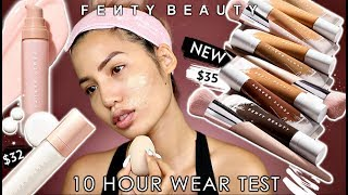 GREAT OR GREASY? NEW FENTY HYDRATING PRO FILTR FOUNDATION & NEW PRIMERS | WEAR TEST