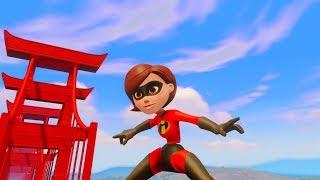 Incredibles 2 Elastigirl Battles Robots | Mrs Incredible Saves San Fransokyo Bridge