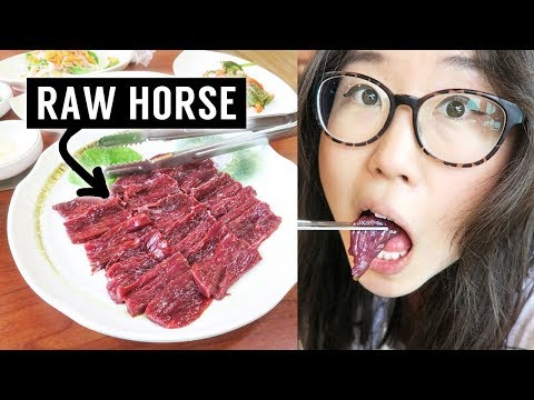 Trying Raw Horse Meat in Korea ► Sashimi VS Grilled