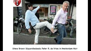 Steven Brown mishandelt Peter R. de Vries zwaar met een slipper schop voor zijn Hol..