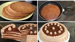 Chocolate Cake In Fry Pan Without Oven Cake Recipe by (HUMA IN THE KITCHEN)