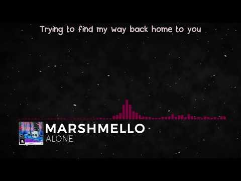 Marshmello - Alone (Lyric Video)