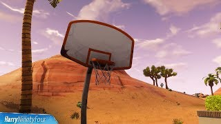 Fortnite Battle Royale - All Basketball Hoop Locations Guide (Score at Different Hoops Challenge)