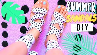 How To Make Shoes | Sandals DIY