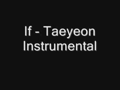 If  - Taeyeon [Original Instrumental]