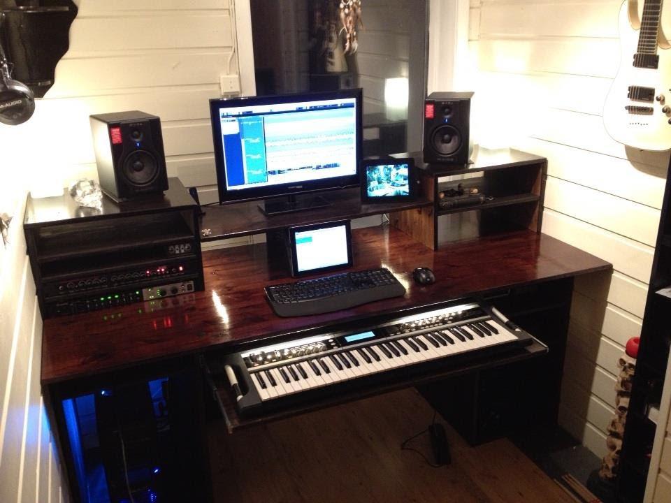 my 39 build a home studio recording desk 39 result workstation youtube. Black Bedroom Furniture Sets. Home Design Ideas