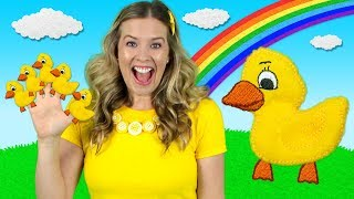 Five Little Ducks | Kids Songs & Nursery Rhymes | Learn to Count the Little Ducks - YouTube