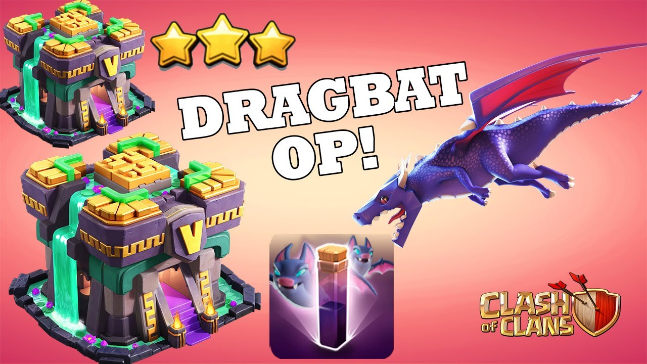 Most Powerful Attack - TH14 DRAGBAT Attack - BEST TH14 Attack Strategy for 3 STAR Clash Of Clans CoC