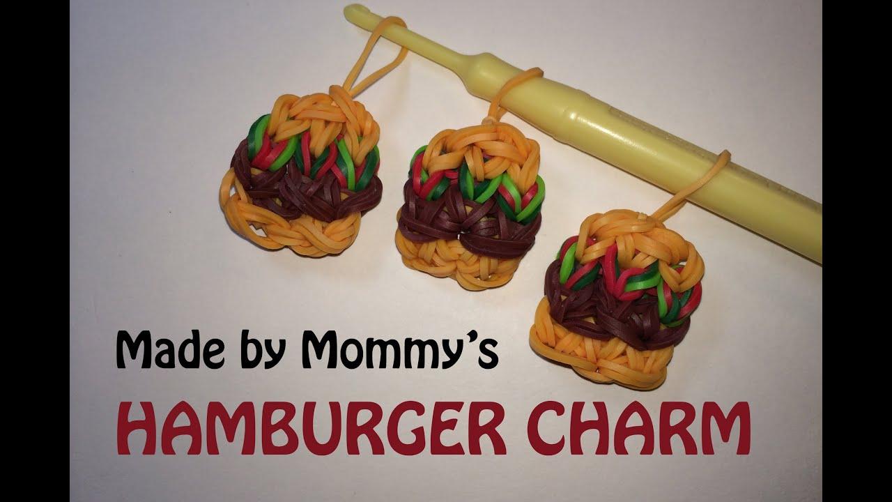 Rainbow Loom Charms Hamburger Youtube