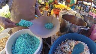 Malaysia Street Food 29 Blue Rice Kelantan Nasi Krabu Biru Pasar Raja Chulan KL YDXJ0300