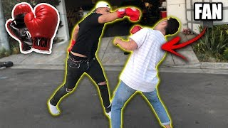 FIGHTING JAKE PAUL FANS AT THE CLOUT HOUSE!! *OMG*