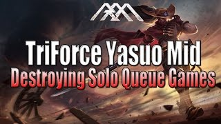 Trinity Force Yasuo - Destroying Solo Q - League of Legends