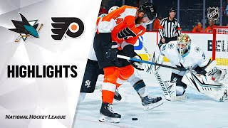NHL Highlights | Sharks @ Flyers 2/25/20