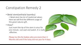 Remedies for Baby Motion Problems(Indian Secrets)   Tamil