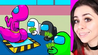 Reacting to the BEST Among Us Animations !
