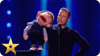 Say whaaat?! Paul Zerdin left speechless by puppet!   BGT: The Champions
