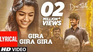 Dear Comrade- Gira Gira Gira Lyrical Video Song- Vijay Dev..