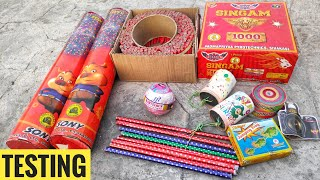 Testing Different types of firecrackers 2019 ||CY