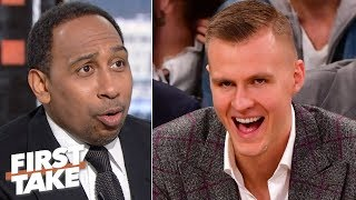 The Knicks won't regret trading Kristaps Porzingis, they had no choice! - Stephen A. | First Take