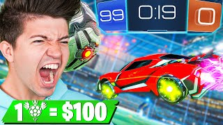 Rocket League But I Pay $100 Per Goal! ft. My Little Brother