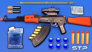 Realistic AK47 Toy Gun | Water Gel Ball Bullet Machine Gun Toy | Soft Darts Shooting Toy Guns