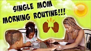 REAL LIFE SINGLE MOM MORNING ROUTINE 2018 ☀️ (ONE OF MANY) | LACY'S FILES
